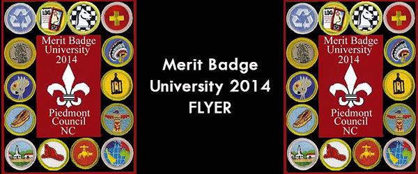 2014 Merit Badge University Flyer