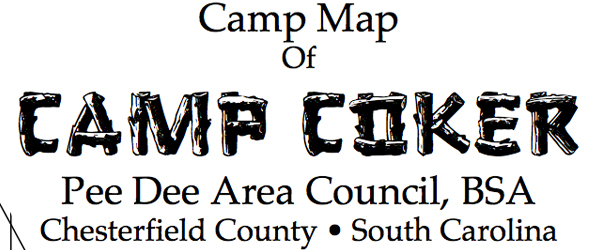 Map of Camp Coker for 2014 Dixie Fellowship