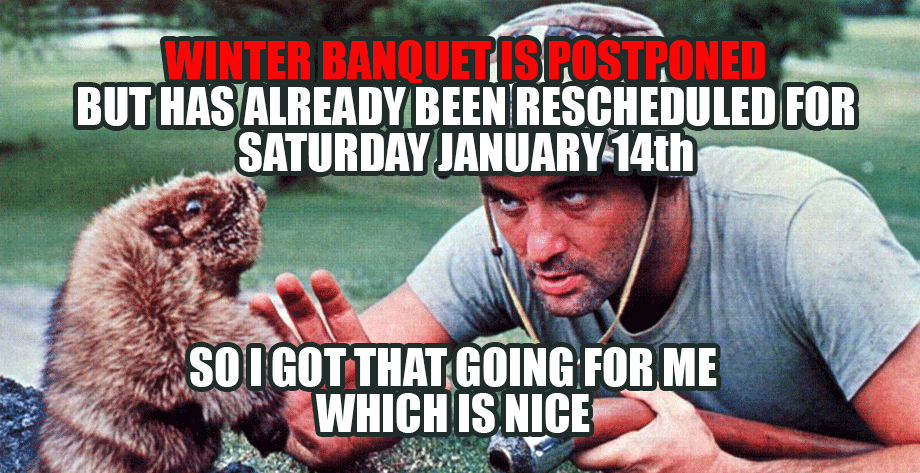 Winter Banquet Postponed
