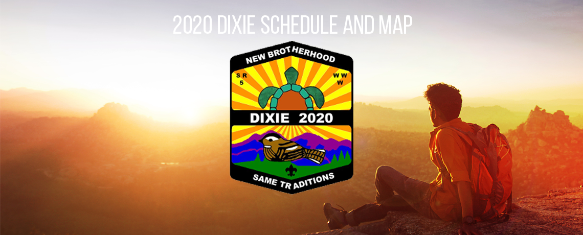 2020 Dixie Fellowship Schedule and Map