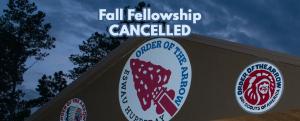 Fall Fellowship Cancelled