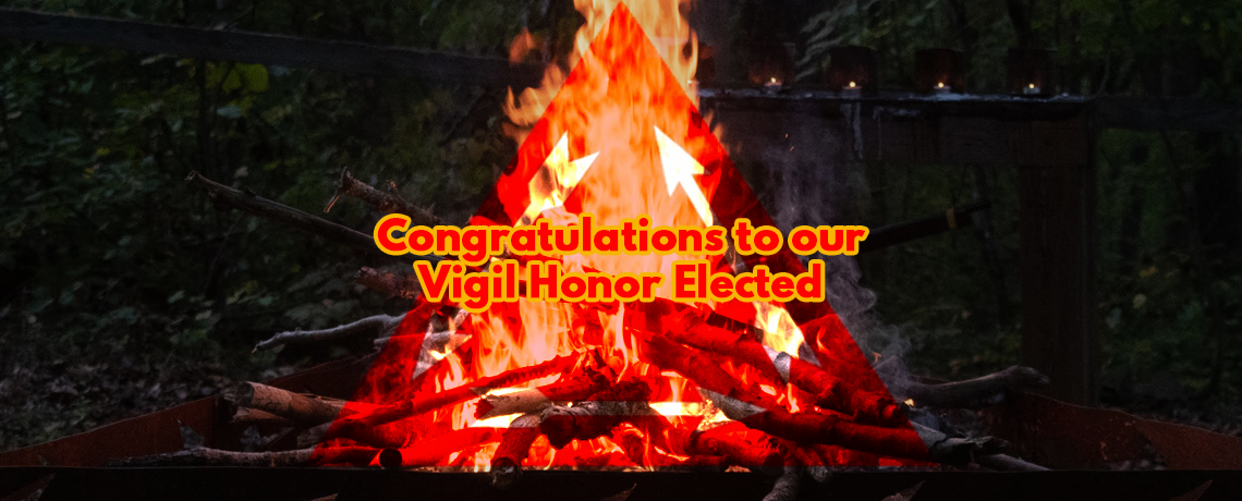 Congratulations to our Vigil Honor Elected